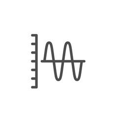 sound graph line icon vector image