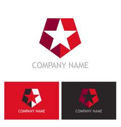 star shield company logo vector image vector image