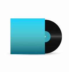 Vinyl record gramophone vinyl record with empty vector