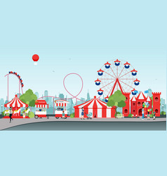 Wheel amusement parks vector