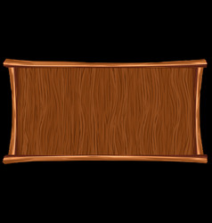 Wooden background banner vector