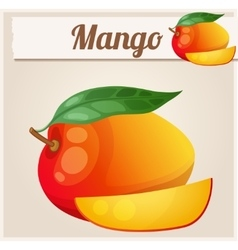 Mango cartoon icon series of food and vector
