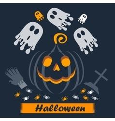 helloween poster cross vector image