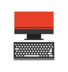 Desktop computer isolated icon vector