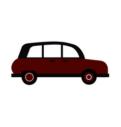 vintage town car icon image vector image