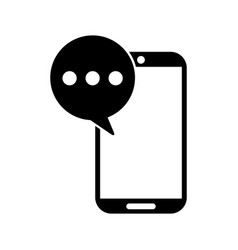 smartphone device with speech bubble isolated icon vector image