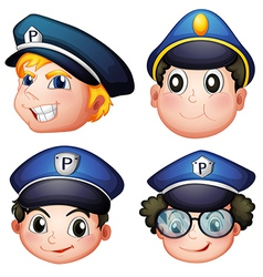 Head of four cops vector