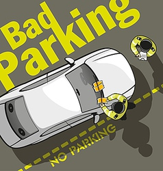 Bad parking eight vector