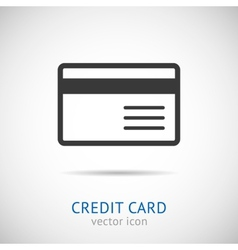 Credit card logo vector