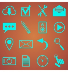 web icons set for web and mobile applications vector image
