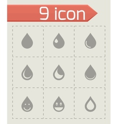 Drop icon set vector