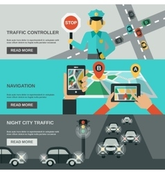 Traffic Banner Set vector image