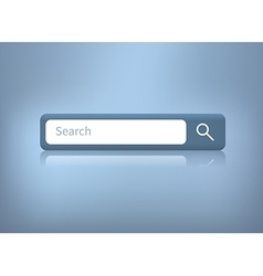 web search bar on blue vector image