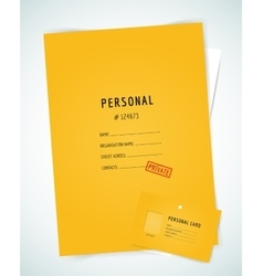 Form blank  folder paper isolated vector