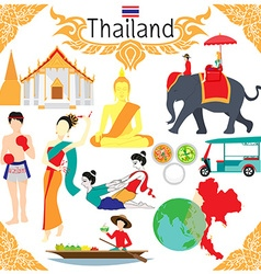 Elements about thailand vector