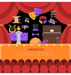 Theatre life concept background vector