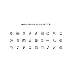 Hand drawn outline web icons set office vector