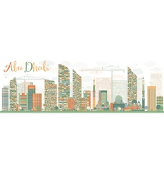 Abstract Abu Dhabi City Skyline vector image