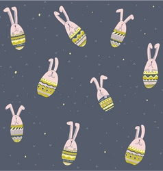 Rabbits background vector