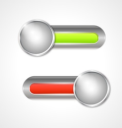 Two switch buttons vector
