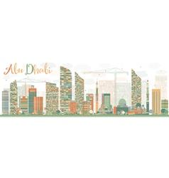 Abstract abu dhabi city skyline vector
