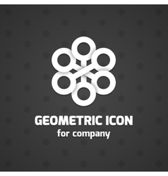 Abstract icon element for business name vector