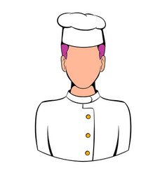 Chef icon cartoon vector