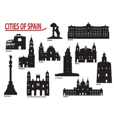 City of Spain vector image