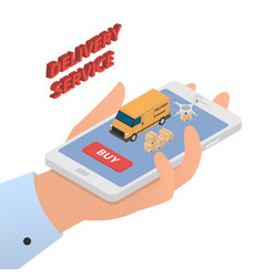 Design concept of modern delivery service vector