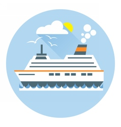 Digital with ocean ship boat icon vector image vector image