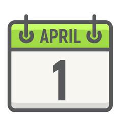 Easter calendar filled outline icon easter vector