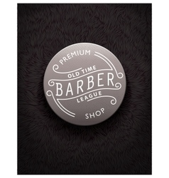Emblem design for barbershop vector