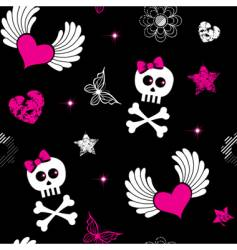 Emo symbols background vector