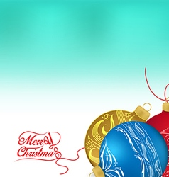 Golden and red christmas ornaments on white vector
