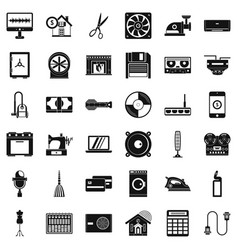 Houseworking icons set simple style vector