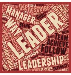 Leadership development text background wordcloud vector