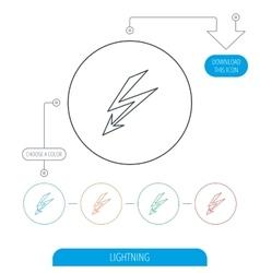 Lightening bolt icon power supply sign vector