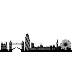 london skyline england city vector image