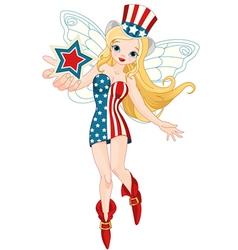 Patriotic fairy vector