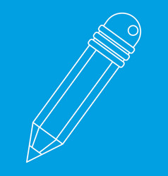 pencil icon outline style vector image vector image