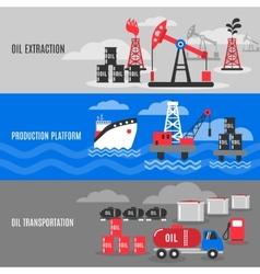Petroleum banner set vector