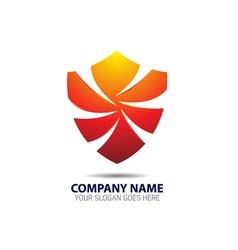 Security shield logo icon vector