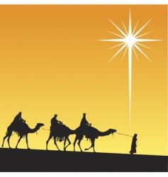 shining star of Bethlehem vector image vector image