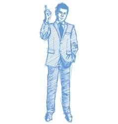 Sketch man vector image