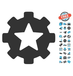 Star Favorites Options Gear Icon With Free Bonus vector image