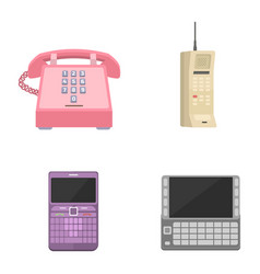 telephones vintage icons vector image vector image