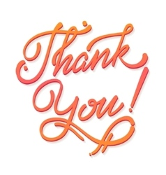Thank You Hand lettering handmade soft vector image