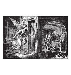 The death angel passes over an israelite door vector