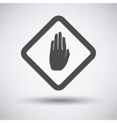 Warning hand icon vector