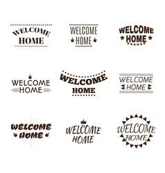 Welcome home collection set of 9 labels emblems vector